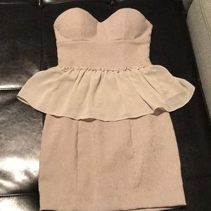Guess Strapless Peplum Dress in Size 2